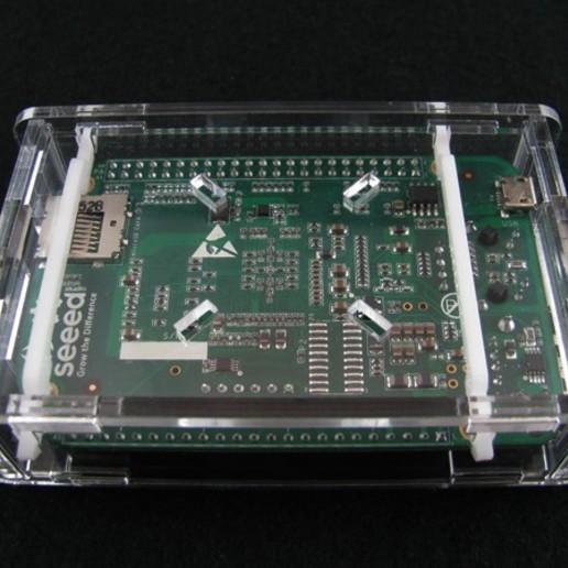 bbgassembled4.jpg Download free STL file BeagleBone Green Low Profile Case • 3D printer object, Gaygwenn