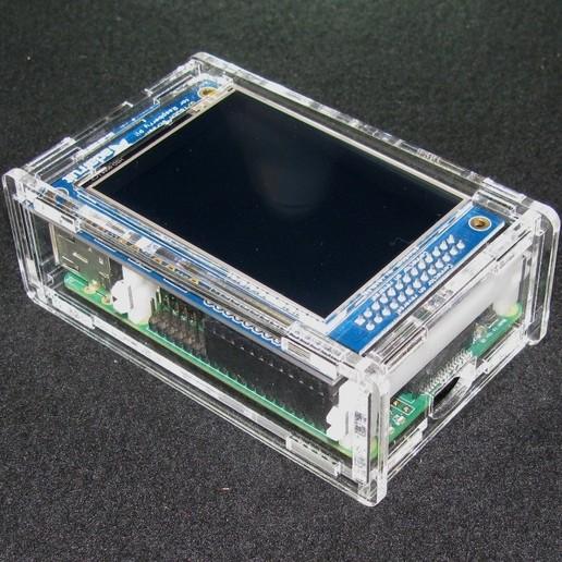 """IMG_4862.JPG Télécharger fichier STL gratuit Étui Pi A+/B+ 2.8"""" PiTFT Framboise Pi A+/B+ 2.8 • Modèle pour imprimante 3D, Gaygwenn"""