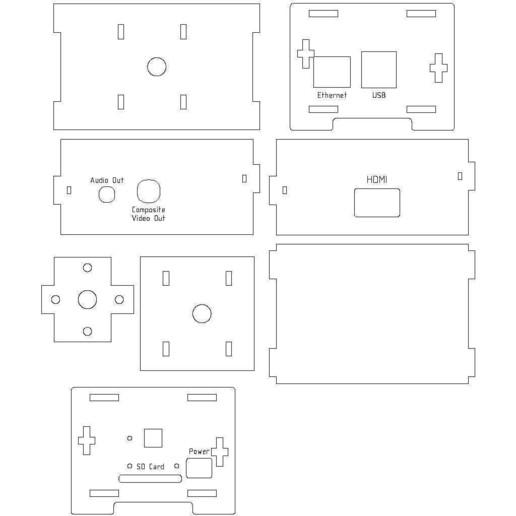 RPi-Cam-Case-3mm-Acrylic.jpg Télécharger fichier STL gratuit Étui pour appareil photo Raspberry Pi • Objet à imprimer en 3D, Gaygwenn