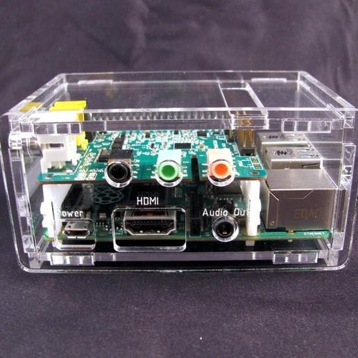 IMG_4549.JPG Télécharger fichier STL gratuit Porte-cartes audio Raspberry Pi B+ Cirrus Logic • Modèle pour imprimante 3D, Gaygwenn