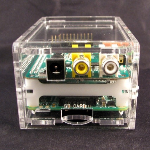 IMG_4550.JPG Télécharger fichier STL gratuit Porte-cartes audio Raspberry Pi B+ Cirrus Logic • Modèle pour imprimante 3D, Gaygwenn