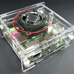 Download free 3D printing models ODROID-X Enclosure with Fan Mount, Gaygwenn