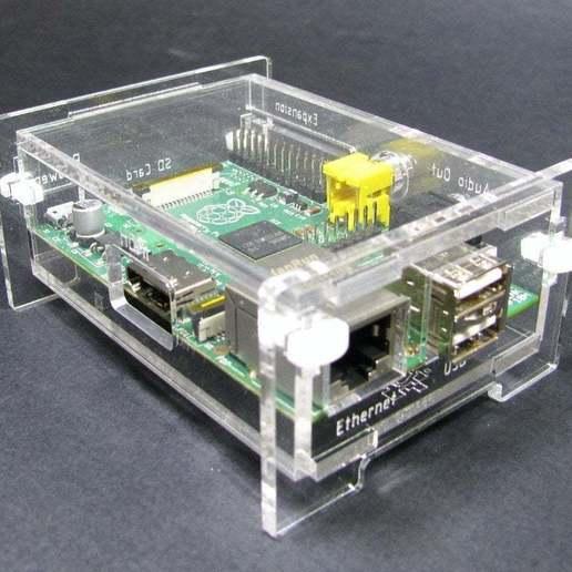 Download free STL files Snap Together Raspberry Pi Enclosure, Gaygwenn