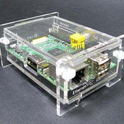 Download free STL files Snap Together Raspberry Pi Enclosure, Gaygwenn