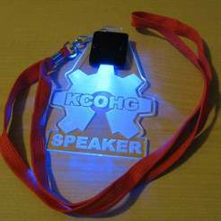 Download free STL KCOHG Speacker Badge, Gaygwenn