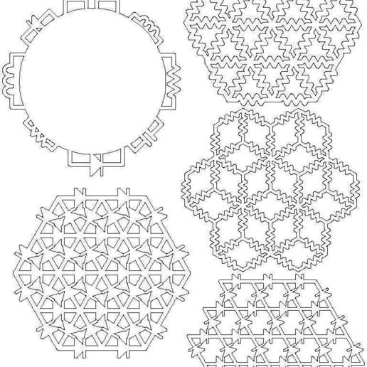 coaster_pack_1_display_large.jpg Download free STL file Circuit Inspired Coasters Pack 1 • Design to 3D print, Gaygwenn