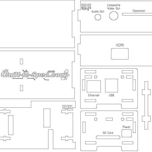 raspberry_pi_enclosure_-_3mm_display_large.jpg Download free STL file Raspberry Pi Enclosure • 3D printing design, Gaygwenn