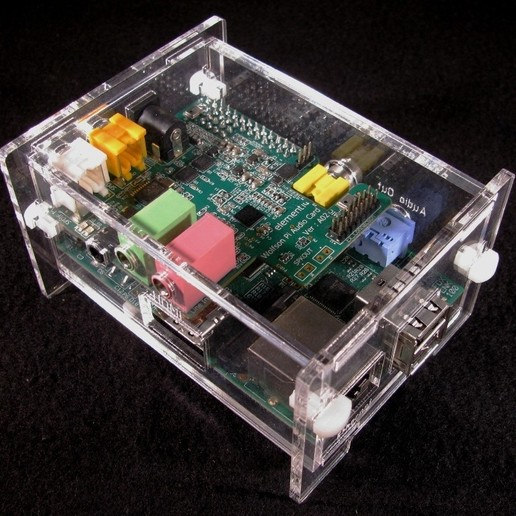 IMG_4579.jpg Download free STL file Wolfson Audio Raspberry Pi Plate Case • 3D printable model, Gaygwenn
