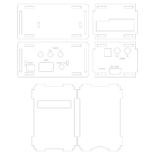 BPlus_Cirrus_Logic_Audio_Card_Case.png Télécharger fichier STL gratuit Porte-cartes audio Raspberry Pi B+ Cirrus Logic • Modèle pour imprimante 3D, Gaygwenn