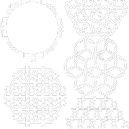 coaster_pack_1_display_large.jpg Télécharger fichier STL gratuit Dessous de verre Inspired Circuit Pack 1 • Design pour impression 3D, Gaygwenn