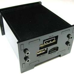 Download free 3D printer files BeagleBone Enclosure with DVI Cape, Gaygwenn