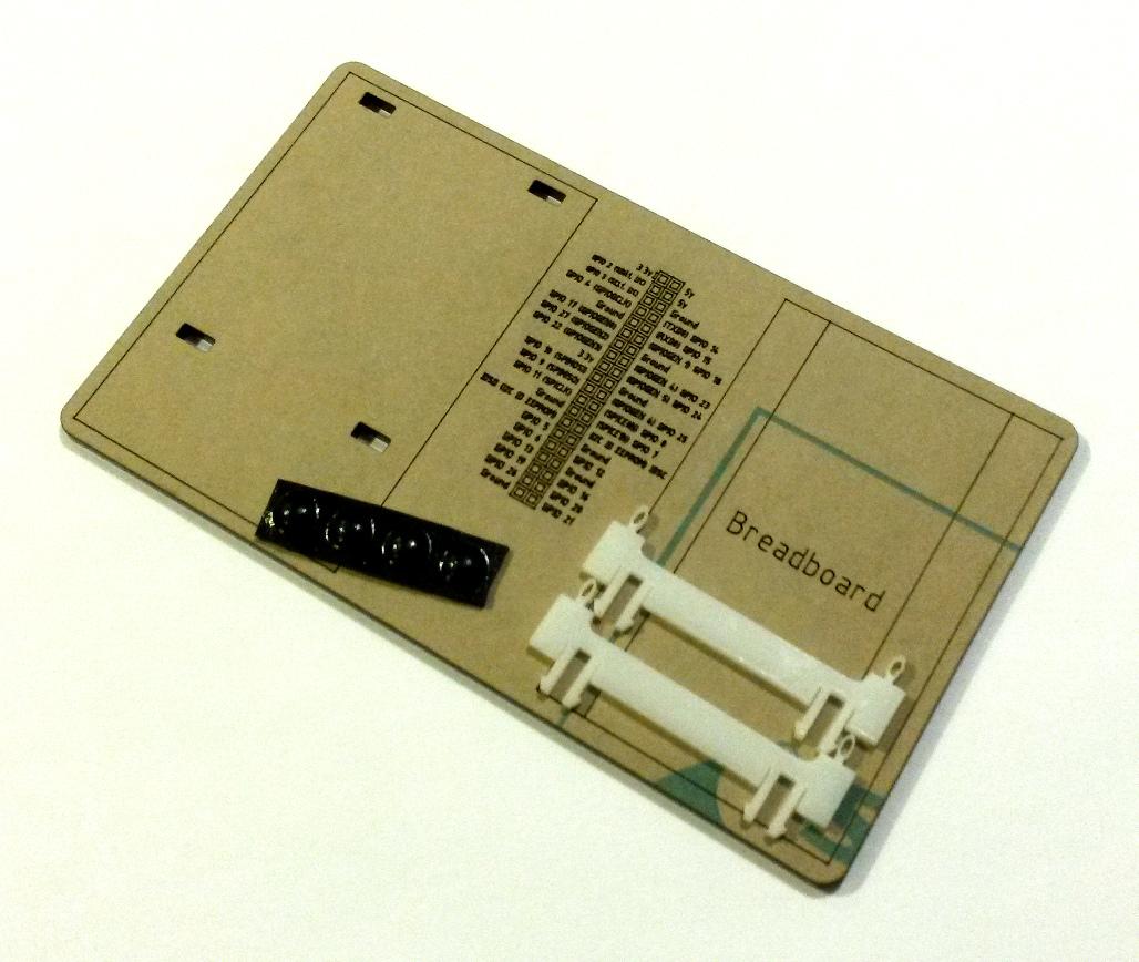 parts-pi-sled.jpg Télécharger fichier STL gratuit Traîneau Pi A+/B+ Framboise Pi A • Design pour impression 3D, Gaygwenn