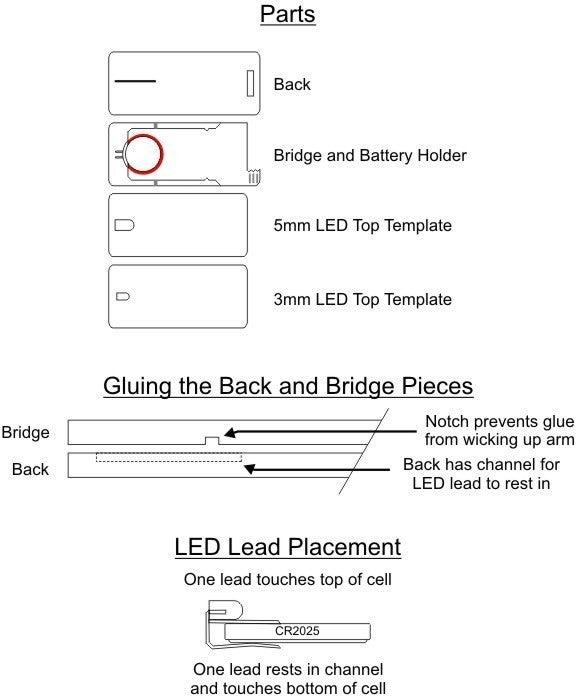 LED_badge_v2_inst_display_large.jpg Télécharger fichier STL gratuit Porte-clés / Porte-clés à LEDs lumineux avancés • Modèle à imprimer en 3D, Gaygwenn
