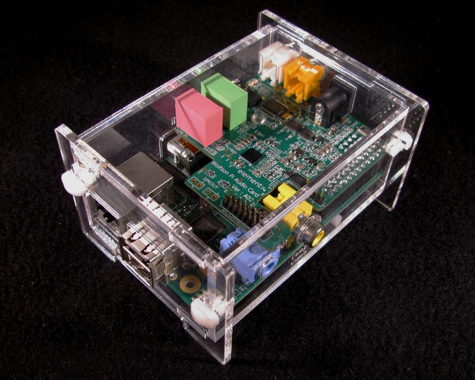 IMG_4577.jpg Download free STL file Wolfson Audio Raspberry Pi Plate Case • 3D printable model, Gaygwenn