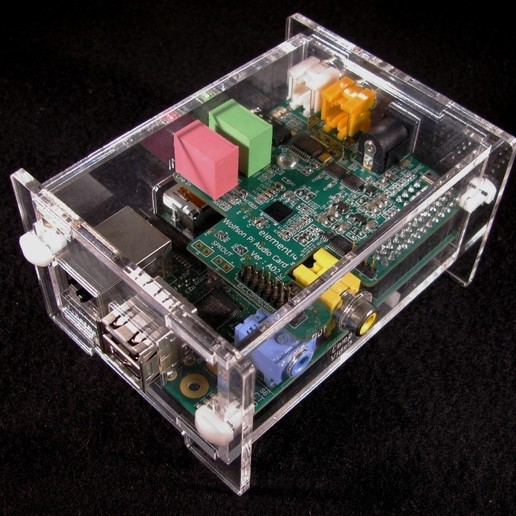 Download free 3D printer designs Wolfson Audio Raspberry Pi Plate Case, Gaygwenn