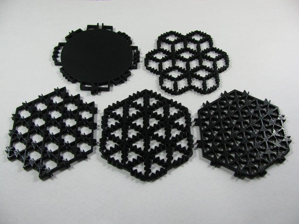 IMG_0135_display_large.jpg Download free STL file Circuit Inspired Coasters Pack 1 • Design to 3D print, Gaygwenn