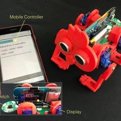 Télécharger fichier imprimante 3D gratuit Robot marcheur à 4 pieds, choimoni