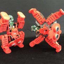 Download free 3D model 4-Legged Walking Robot X type foot holder, choimoni