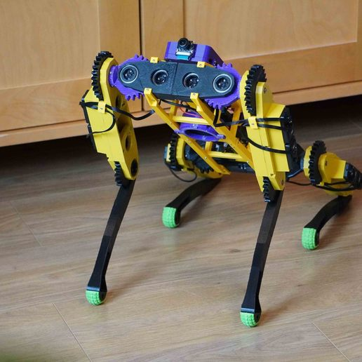 Download free STL file Quadruped robot V2.0 • 3D printable model, robolab19