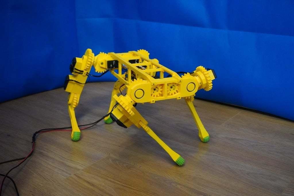 DSC01006.JPG Download free STL file RoboDog v1.0 • 3D printing object, robolab19