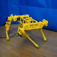 Download free 3D printer templates RoboDog v1.0, robolab19