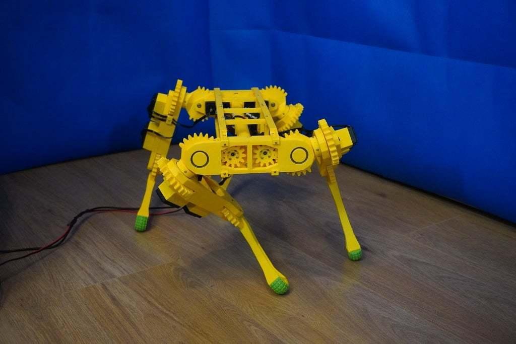 DSC01008.JPG Download free STL file RoboDog v1.0 • 3D printing object, robolab19