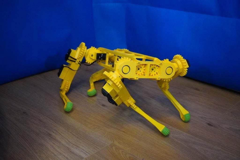 DSC01012.JPG Download free STL file RoboDog v1.0 • 3D printing object, robolab19