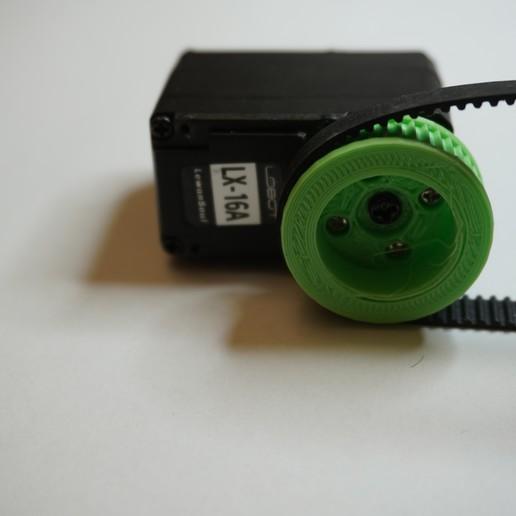 Télécharger plan imprimante 3D gatuit Roue dentée pour servo intelligent LX-16A, robolab19