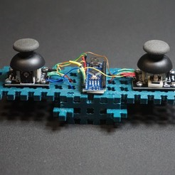 Download free STL Simple DIY joystick to remotely control your robots, robolab19