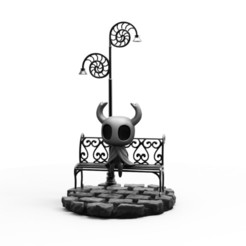 hollow sentado.jpg Download STL file Hollow Knight SIT • 3D printer design, PequeCris