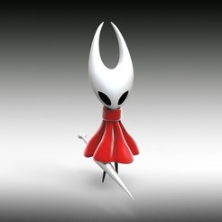 hornet frontal.jpg Download STL file Hornet of the Hollow Knight game • 3D print template, PequeCris