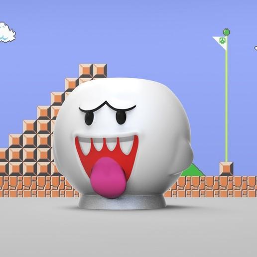 boo frontal.jpg Télécharger fichier STL gratuit Cube de crayon Boo • Design pour impression 3D, PequeCris