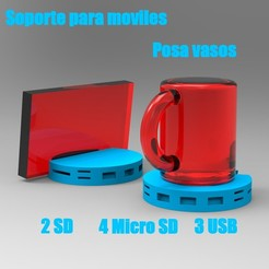 posavasos.jpg Download free STL file Desk cup holder • 3D printer model, PequeCris