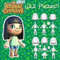 piezas animal.jpg Download STL file Villager Animal Crossing new horizons • 3D printer design, PequeCris