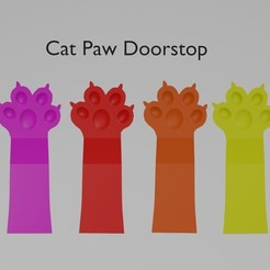 catpawad.jpg Download free STL file Cat Paw Doorstop • 3D printable object, wmontoza