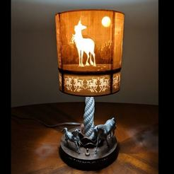 unicorn lamp lit.JPG Download free STL file Unicorn Table Lamp • 3D print model, subtlyfantastic