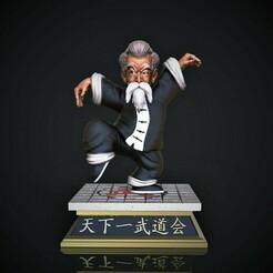 Master Roshi .jpg Télécharger fichier STL Maître Roshi Jackie Chun • Design pour impression 3D, M3dStudios1