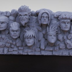 Render5 .jpg Download STL file Mountain of the hokages • 3D printer template, M3dStudios1