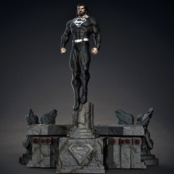 Download 3D printing files Superman black, M3dStudios1
