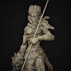 Download STL King Monkey wukong, M3dStudios1