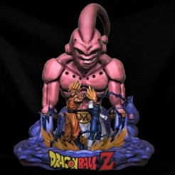 Download STL Buu Diorama DBZ, M3dStudios1