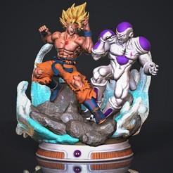 Goku Vs Freezer dfdfdfsf221111.jpg Download STL file Goku vs Freezer • 3D printer design, M3dStudios1