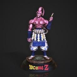 bu samurai.214.jpg Download STL file Buu Samurai • Template to 3D print, M3dStudios1