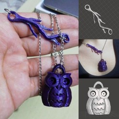 portada.jpeg Download free STL file owl chain • 3D print design, rauldavidpr11
