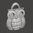 buho vista 3.png Download free STL file owl chain • 3D print design, rauldavidpr11