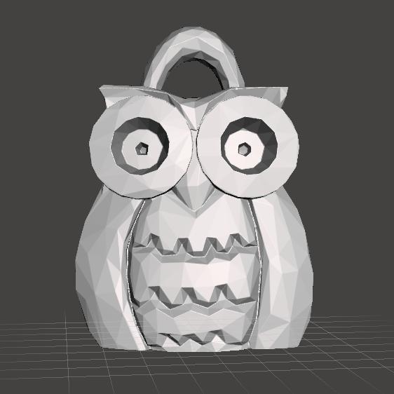 buho.png Download free STL file owl chain • 3D print design, rauldavidpr11