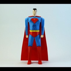 Download 3D printer designs Superman Low Poly, ChristosFragoulias