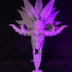 Download 3D printer designs Nazeebo Quetzalcoatl Voodoo Mask, ChristosFragoulias
