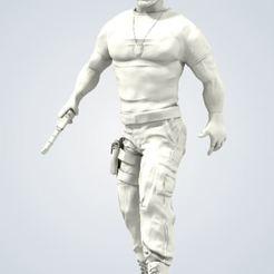 Download 3D printing files Agent Luke Hobbs, chriscustoms