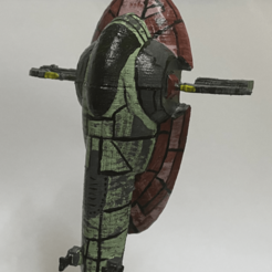 IMG_3199.png Download free STL file StarWars Firespray-31. Low details. • 3D printable template, shady333
